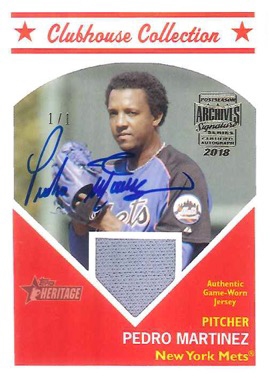 2018 Topps Archives Signature Series Retired Player Edition Baseball Pedro Martinez