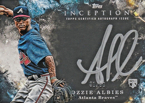 2018 Topps Inception Baseball Silver Signings Ozzie Albies