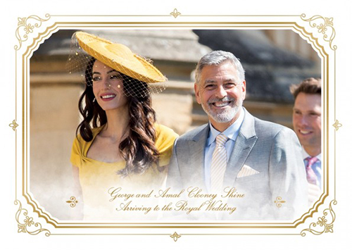 2018 Topps On Demand Royal Wedding George Clooney