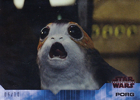 2018 Topps On Demand Star Wars The Last Jedi Base Blue Porgs