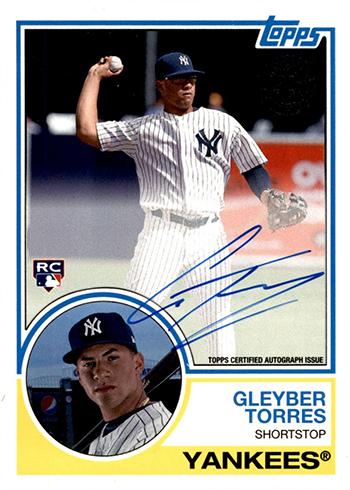 2018 Topps Series 2 1983 Topps Autographs Gleyber Torres