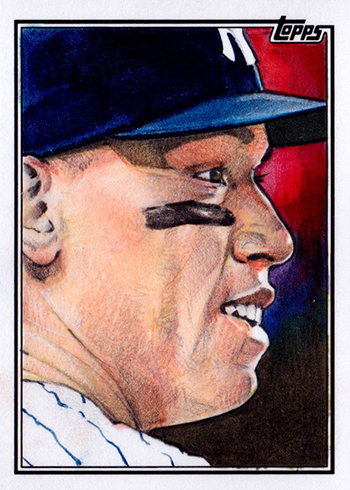 2018 Topps Series 2 Sketch Card Aaron Judge Mike James