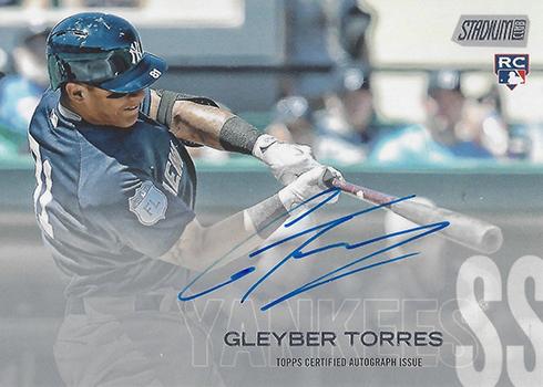 2018 Topps Stadium Club Baseball Autographs Gleyber Torres