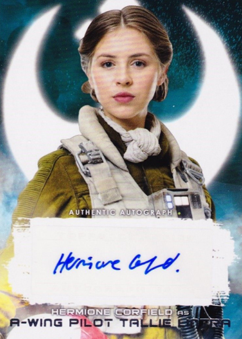 2018 Topps Star Wars The Last Jedi Series 2 Autographs Hermione Corfield