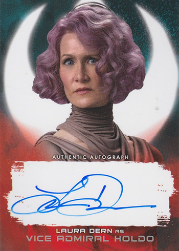 2018 Topps Star Wars The Last Jedi Series 2 Autographs Red Laura Dern