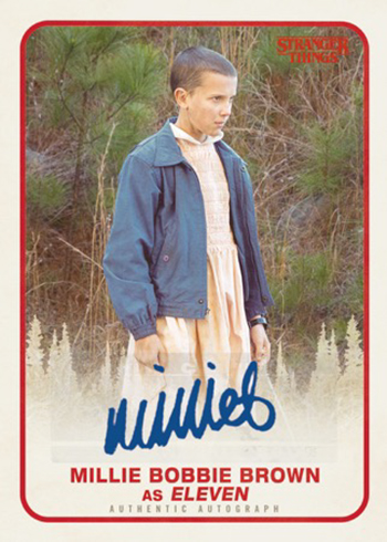 2018 Topps Stranger Things Autograph