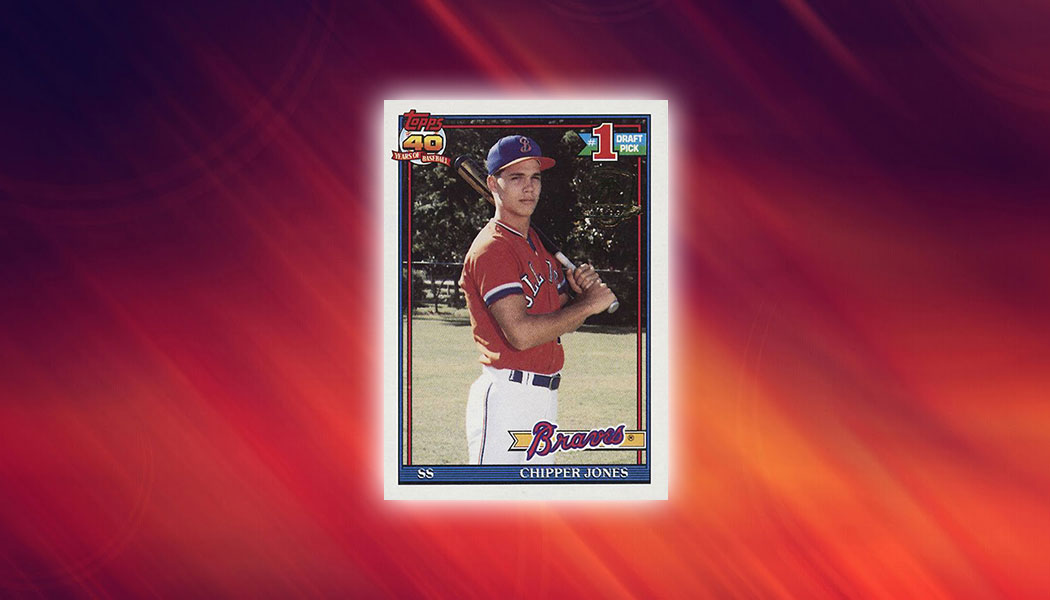 1991 Topps Desert Shield Chipper Jones Sells For Over 13000
