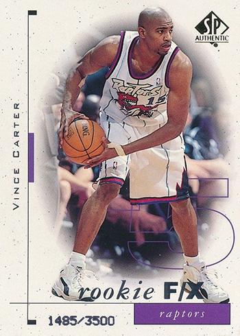 1998-99 SP Authentic Vince Carter RC