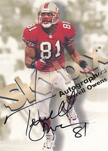 1998 SkyBox Autographics Terrell Owens Autograph