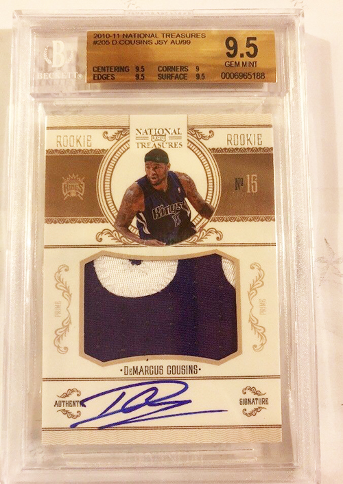 2010-11-Panini-National-Treasures-DeMarcus-Cousins-RC BGS 9-5