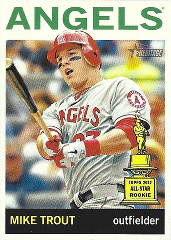 2013 Topps Heritage Action Variation Mike Trout 430