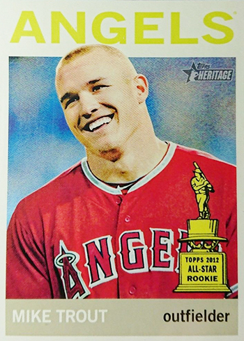 2013 Topps Heritage Color Swap Variation Mike Trout 430