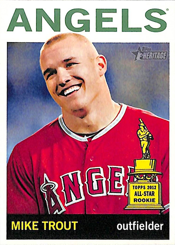 2013 Topps Heritage Mike Trout 430