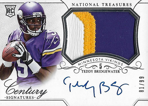 2014 Panini National Treasures Teddy Bridgewater RC