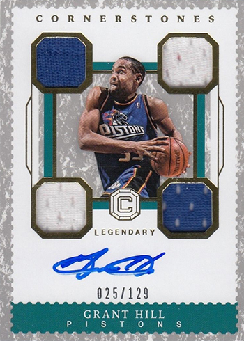 2017-18 Panini Cornerstones Basketball Legendary Cornerstones Grant Hill