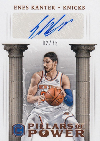 2017-18 Panini Cornerstones Basketball Pillars of Power Bronze Enes Kanter