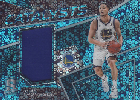 2017-18 Panini SPectra Basketball Catalysts Neon Blue Klay Thompson