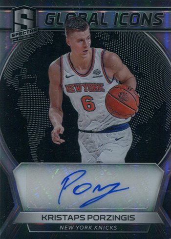 2017-18 Panini Spectra Basketball Global Icons Kristaps Porzingis