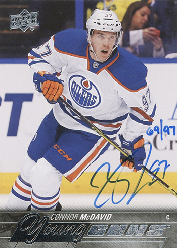 2017-18 SP Authentic 2015-16 UD Connor McDavid Young Guns Buyback Autograph