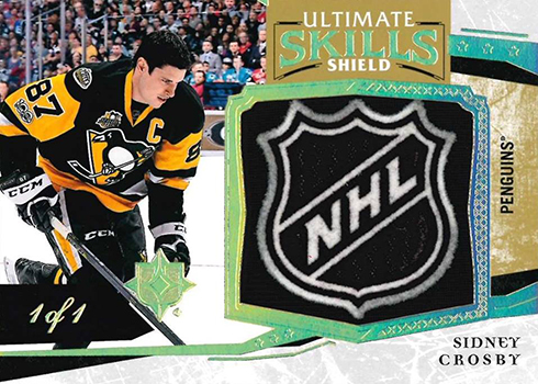 8d4aab893 2017-18 Upper Deck Ultimate Collection Hockey Ultimate Skills Shields  Sidney Crosby