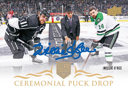 2018-19 Upper Deck Series 1 Hockey Ceremonial Puck Drop Autograph