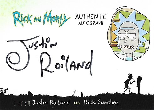 2018 Cryptozoic Rick and Morty Autographs Justin Roiland as Rick Sanchez