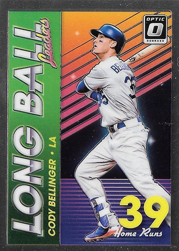 2018 Donruss Optic Baseball Long Ball Leaders Cody Bellinger