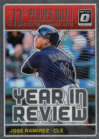 2018 Donruss Optic Baseball Year In Review Jose Ramirez