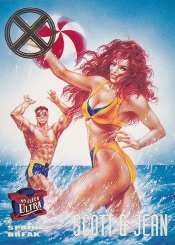 2018 Fleer Ultra X-Men 1995 Buyback Scott & Jean Spring Break