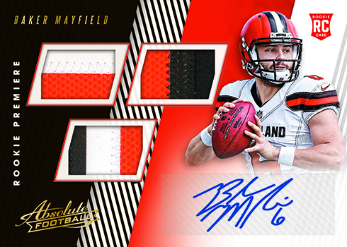 2018 Panini Absolute Football Rookie Premiere Materials Autographs