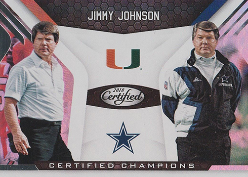 2018 Panini Certified Football Certified Champions Jimmy Johnson