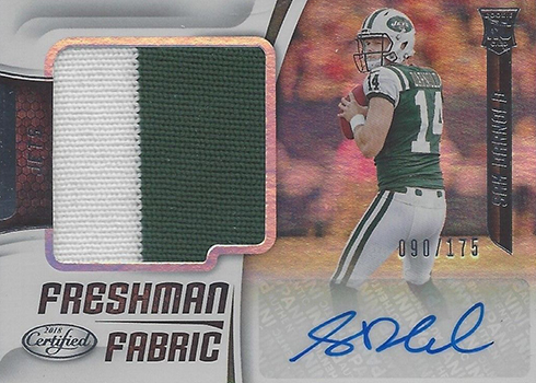 2018 Panini Certified Football Sam Darnold RC Auto Freshman Fabric