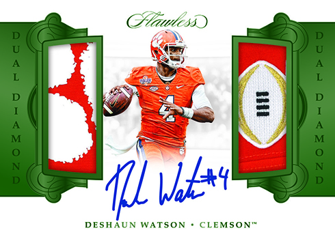 2018 Panini Flawless Collegiate Football Dual Diamond Memorabilia Autographs