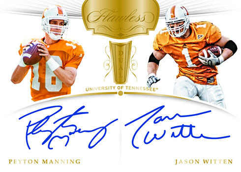 2018 Panini Flawless Collegiate Football Flawless Dual Signatures