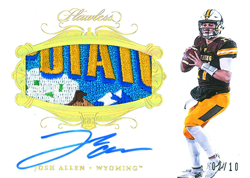 2018 Panini Flawless Collegiate Football Rookie Patch Autographs Bowl Logo