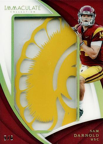 2018 Panini Immaculate Collegiate Football Helmet Team Logos Sam Darnold
