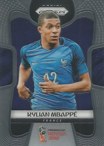 2018 Kylian Mbappe Panini World Cup Rookie RC Sticker #209 France