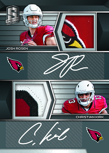 2018 Panini Spectra Football Dual Rookie Patch Autographs Black