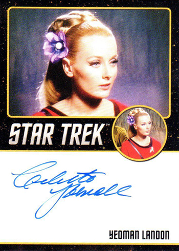 2018 Rittenhouse Star Trek Captains Collection Black Autographs Celeste Yarnall