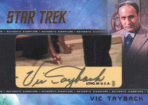 2018 Rittenhouse Star Trek Captains Collection Cut Signatures Vic Tayback