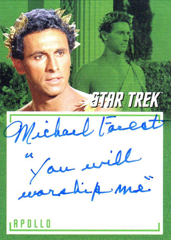 2018 Rittenhouse Star Trek Captains Collection Inscription Autographs Michael Forrest