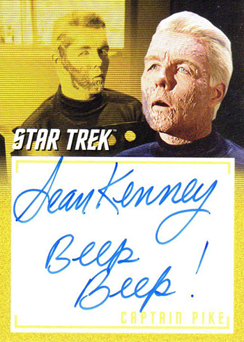 2018 Rittenhouse Star Trek Captains Collection Inscription Autographs Sean Kenney