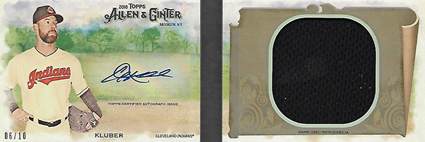 2018 Topps Allen and Ginter Baseball Autograph Relic Book Corey Kluber