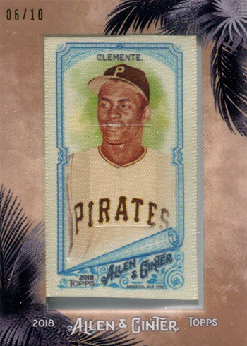 2018 Topps Allen and Ginter Baseball Framed Cloth Mini Roberto Clemente