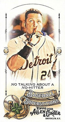2018 Topps Allen and Ginter Baseball Mini Baseball Superstitions