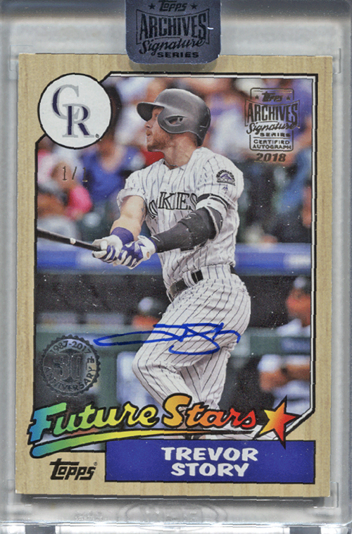 2018 Topps Archives Signature Series Baseball Active Player Edition Trevor Story