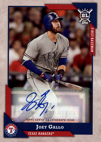 2018 Topps Big League Baseball Big League Autographs Joey Gallo