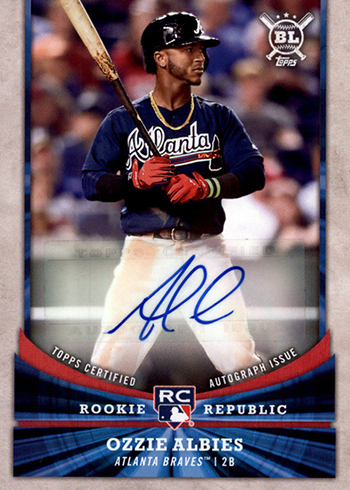 2018 Topps Big League Baseball Rookie Republic Autographs Ozzie Albies