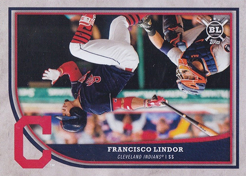 2018 Topps Big League Error Variation 70 Francisco Lindor