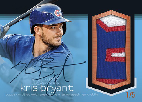 2018 Topps Dynasty Baseball Autograph Patch Blue